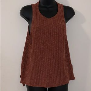 Forever 21 Brown Sweater Tank Size Small EUC